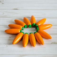 Счетный материал 12 морковок в коробочке-сортере