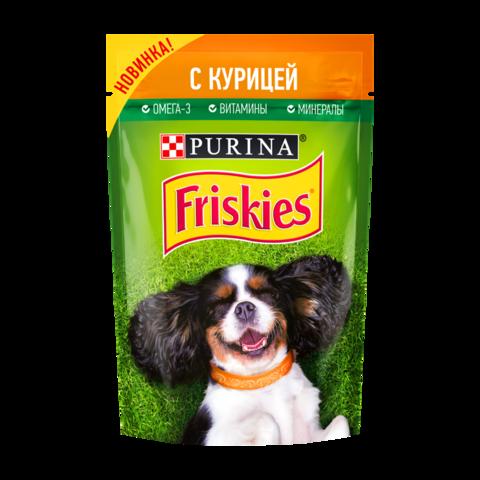 Friskies Консервы для взрослых собак с Курицей в подливе (Пауч)