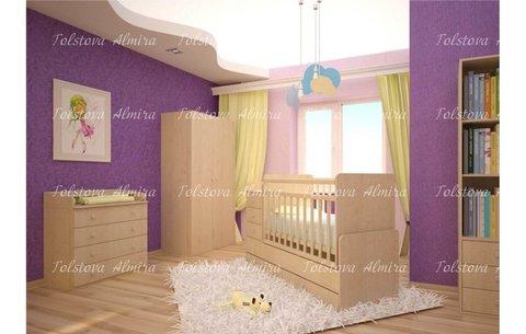 Кровать детская Фея 1100 клён