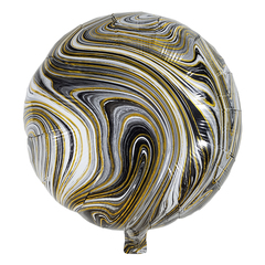 Воздушный шар Круг - Агат (Черный)