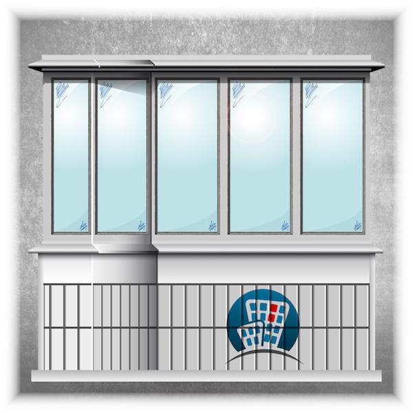 Остекление балконов в доме серии П44Т