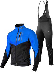 Утеплённый лыжный костюм 905 Victory Code Go Fast Dynamic Blue с высокой спинкой мужской