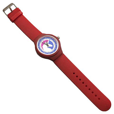 Часы наручные Единорог красные