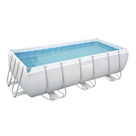 Каркасный прямоугольный бассейн Bestway 56441 (404х201х100 см) с картриджным фильтром и лестницей / 16459