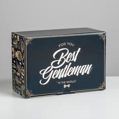 Коробка сборная «Джентельмену», 22 × 15 × 10 см, 1 шт.