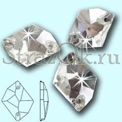 Стразы пришивные стеклянные Cosmic Crystal, Космик цвет Кристал, прозрачный яркий на StrazOK.ru