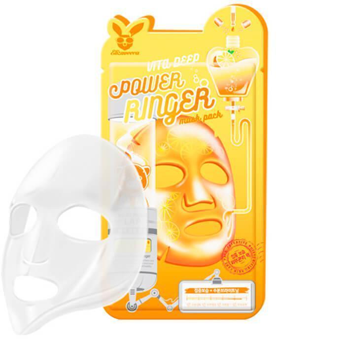 Тканевая маска для лица витаминная Elizavecca VITA DEEP POWER RING MASK PACK