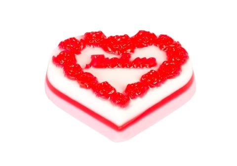 Мыльное ассорти/сердце: ЛЮБЛЮ, 90 гр/шт