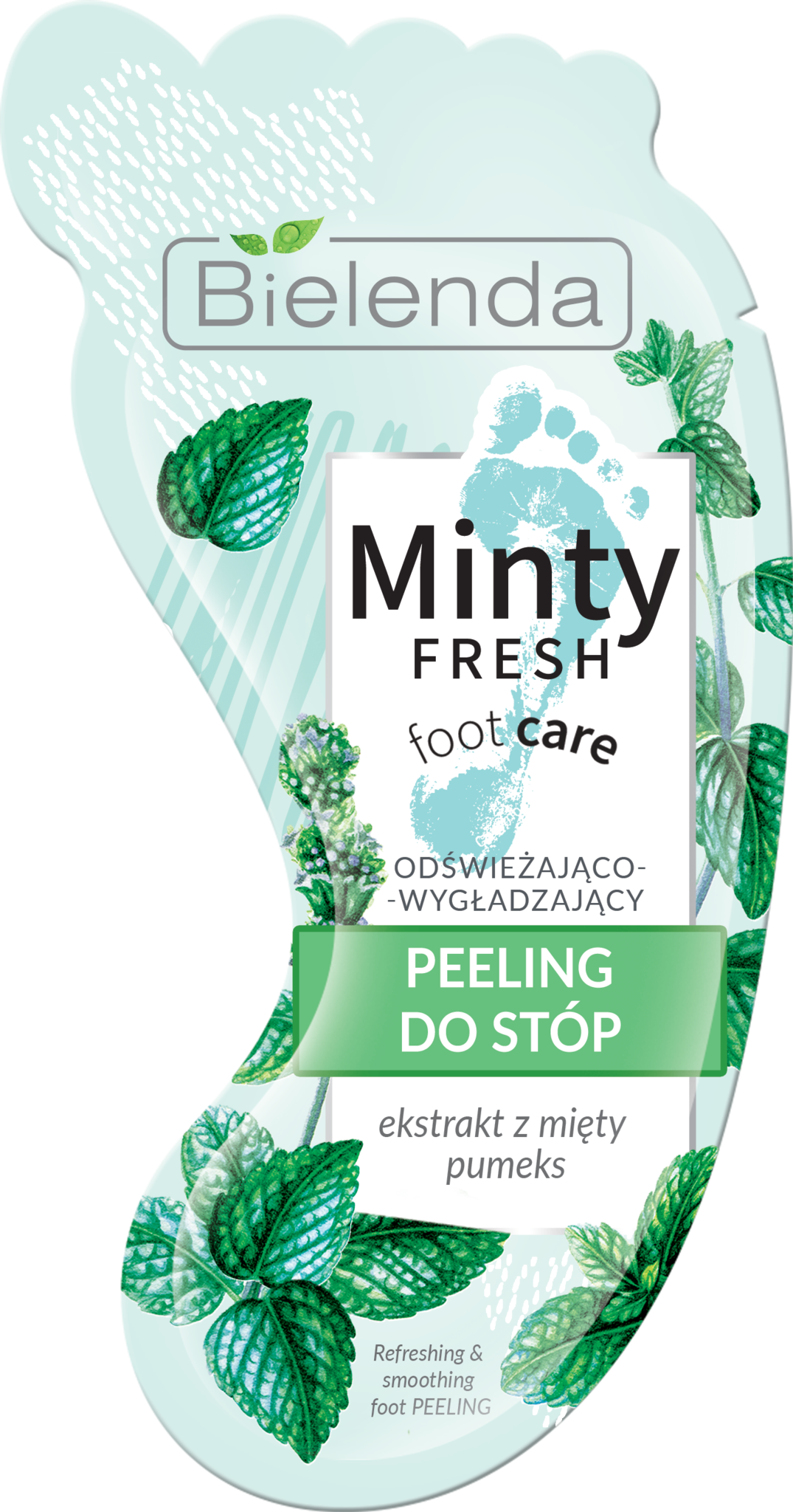 MINTY FRESH FOOT CARE освежающий разглаживающий скраб для ног 10 г (*12)шт32432487,9