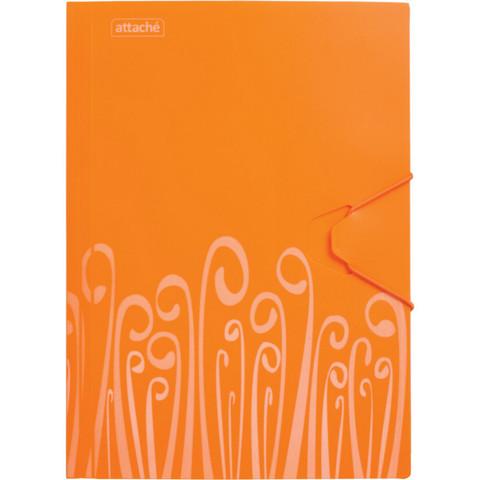 Папка на резинке Attache Fantasy А4 пластиковая оранжевая (0.45 мм, до 200 листов)