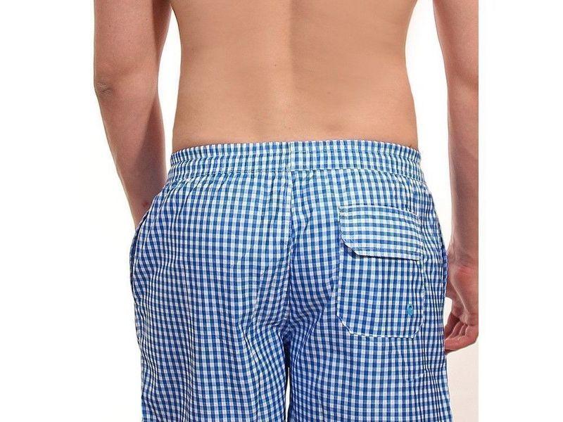 Мужские шорты голубые в клетку  POLO RALPH LAUREN 1604-2014-4
