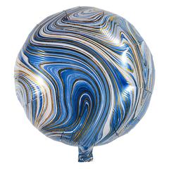 Воздушный шар Круг - Агат (Голубой)