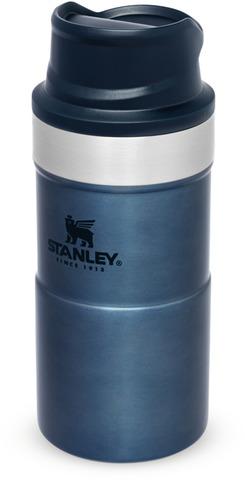 Картинка термостакан Stanley Classic Trigger Action 0,25L One hand 2.0 Синяя - 1