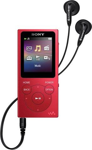 MP3 плеер Sony NW-E394R красного цвета купить в фирменном магазине