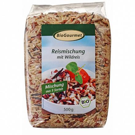 Рисовая смесь с диким рисом BioGourmet, 500 г