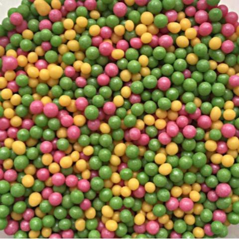 Посыпка РИС ВОЗДУШНЫЙ 50гр МИКС (зеленый+розовый+желтый)