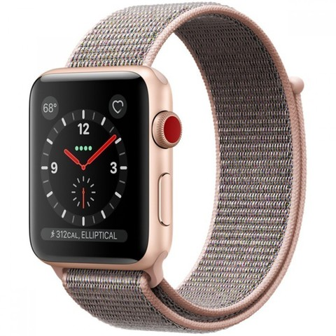 Watch S3 Cellular 42mm Gold Al/Pink Sport Loop