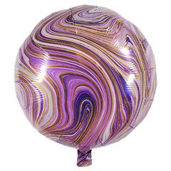 Воздушный шар Круг - Агат (Фиолетовый)