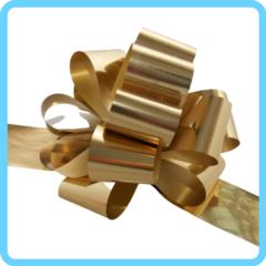 Бант подарочный золотой 5 см