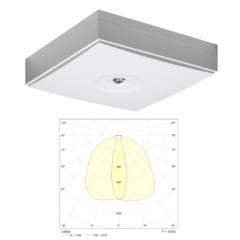 Светильники аварийного освещения эвакуационных коридоров с высокими потолками LINESPOT II MIDBAY IP44 Teknoware