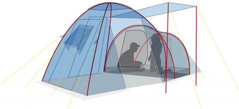 Палатка Canadian Camper HYPPO 4, цвет woodland, схема 3.