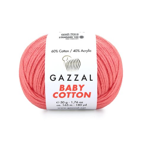 Пряжа Gazzal Baby Cotton 3435 пыльная роза