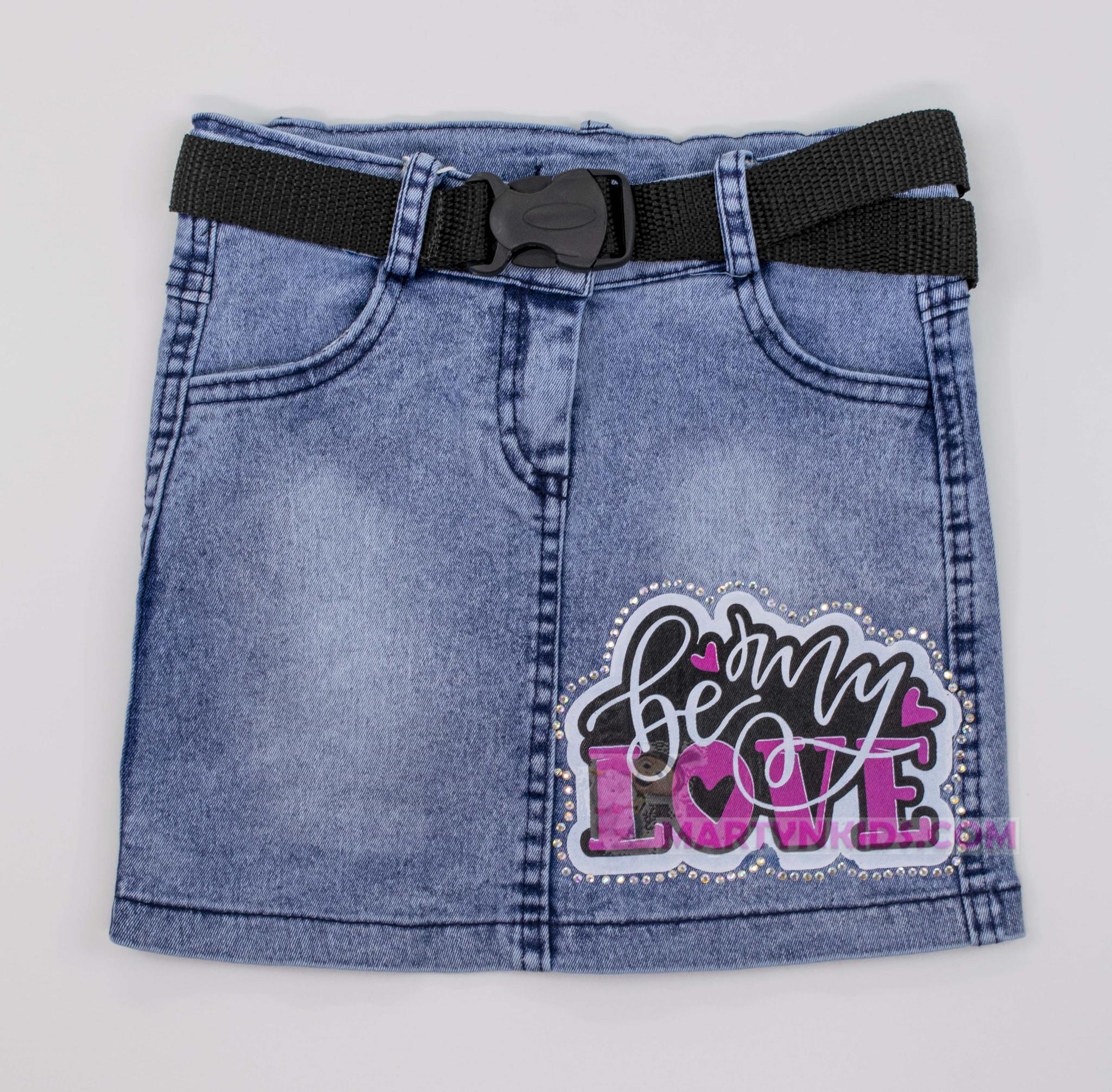 3375 юбка джинс LOVE