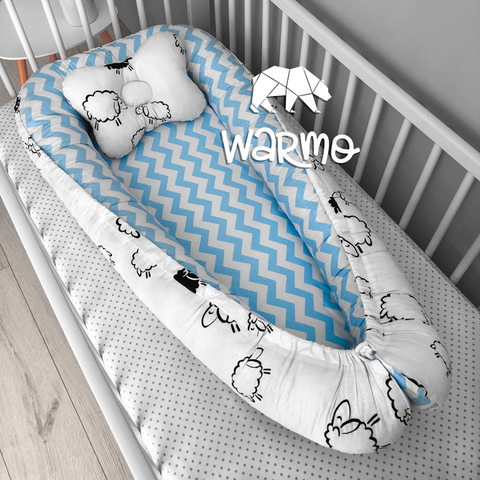 Кокон (гнездышко) для новорожденных Warmo™ ОВЕЧКИ