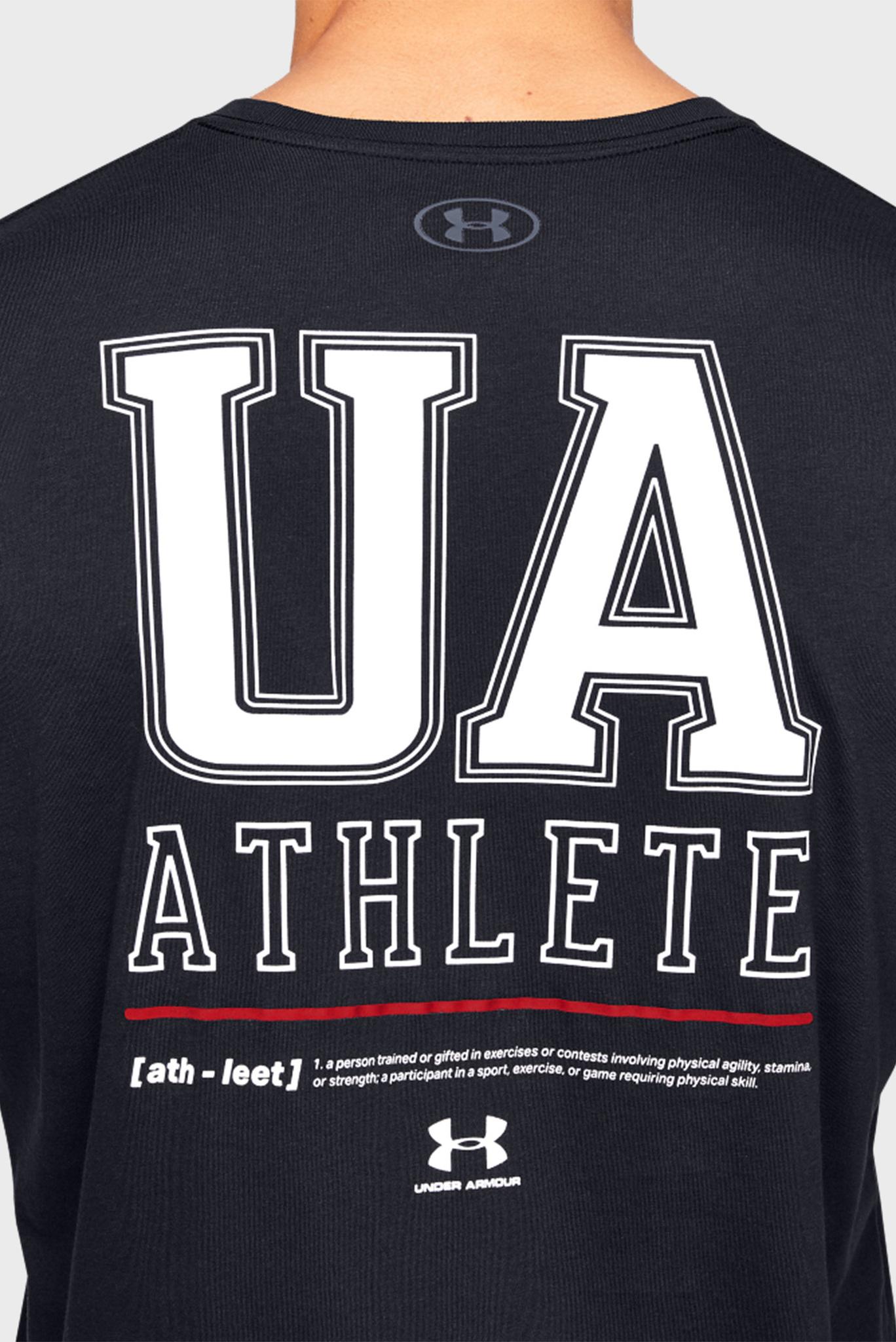 Мужская черная футболка UA VERTICAL LEFT CHEST LOGO SS Under Armour