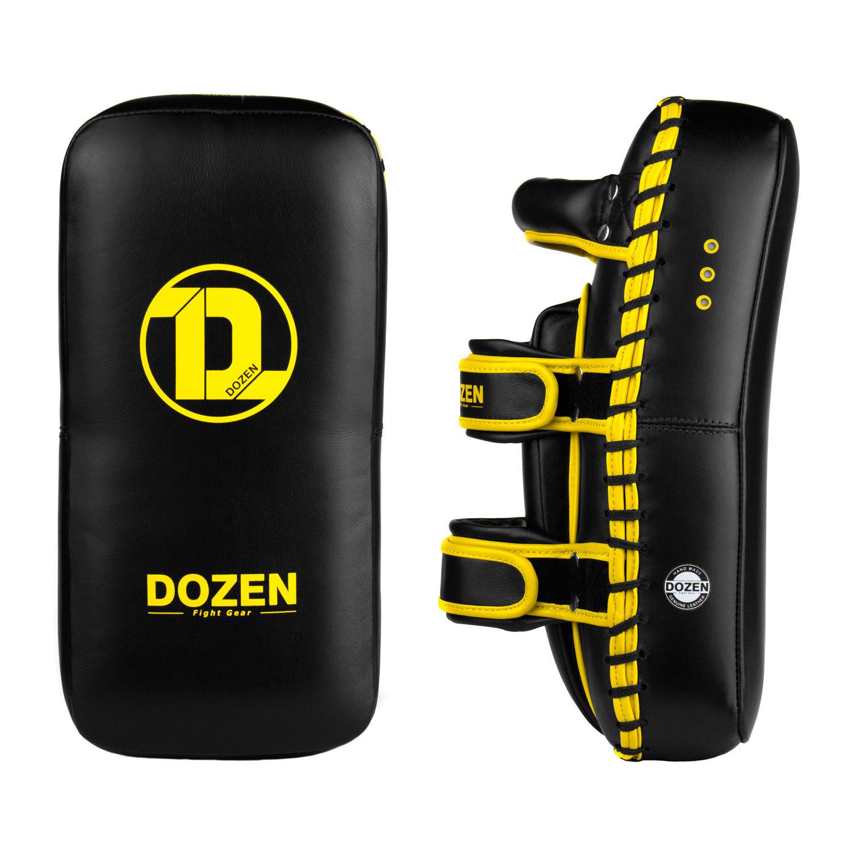 Пады Dozen Monochrome черно-желтые боковой и фронтальный вид