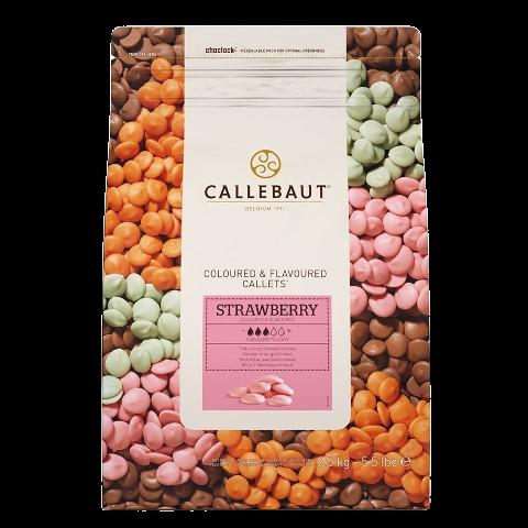 Шоколад со вкусом клубники в галетах BARRY CALLEBAUT