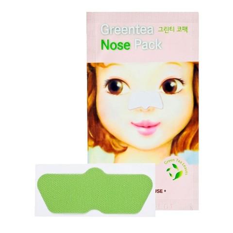 Etude House Green Tea Nose Pack полоска от черных точек с экстрактом зелёного чая