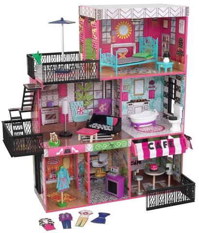 KidKraft Бруклинский Лофт - кукольный домик с мебелью 65922_KE