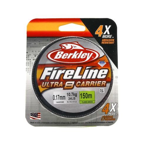 Плетеная леска Berkley Fireline Ultra 8 Светло-зеленая 150 м. 0,17 мм. 10,7 кг. Green