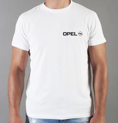 Футболка с принтом Опель (Opel) белая 006