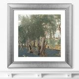 Бенно Беккер - Репродукция картины в раме Olive Grove, 1914г.