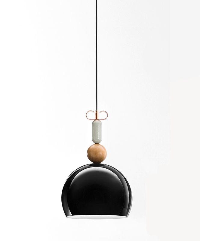 Подвесной светильник копия Bon Ton Т1B1 by YUUE Design Studio  (черный)