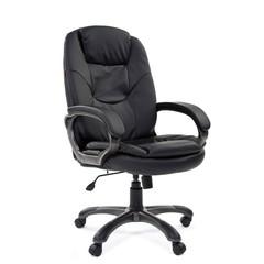 Кресло для руководителя Chairman 668 черное (экокожа/пластик)