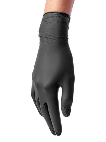 Перчатки медицинские смотровые нитриловые Benovy нестерильные неопудренные размер S Черные (50 пар в упаковке) Краснодар