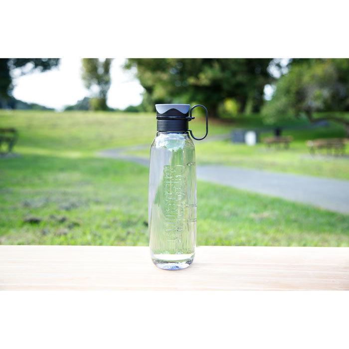 """Бутылка для воды с петелькой Sistema """"Hydrate"""", Тритан, 850 мл, цвет Черный"""