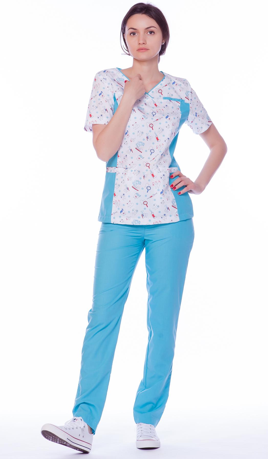 Брюки женские медицинские М 525