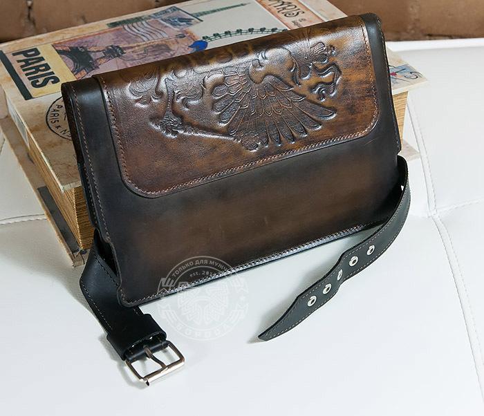 BC120-2 Мужской подарочный кожаный ежедневник ручной работы с гербом (А5) фото 05