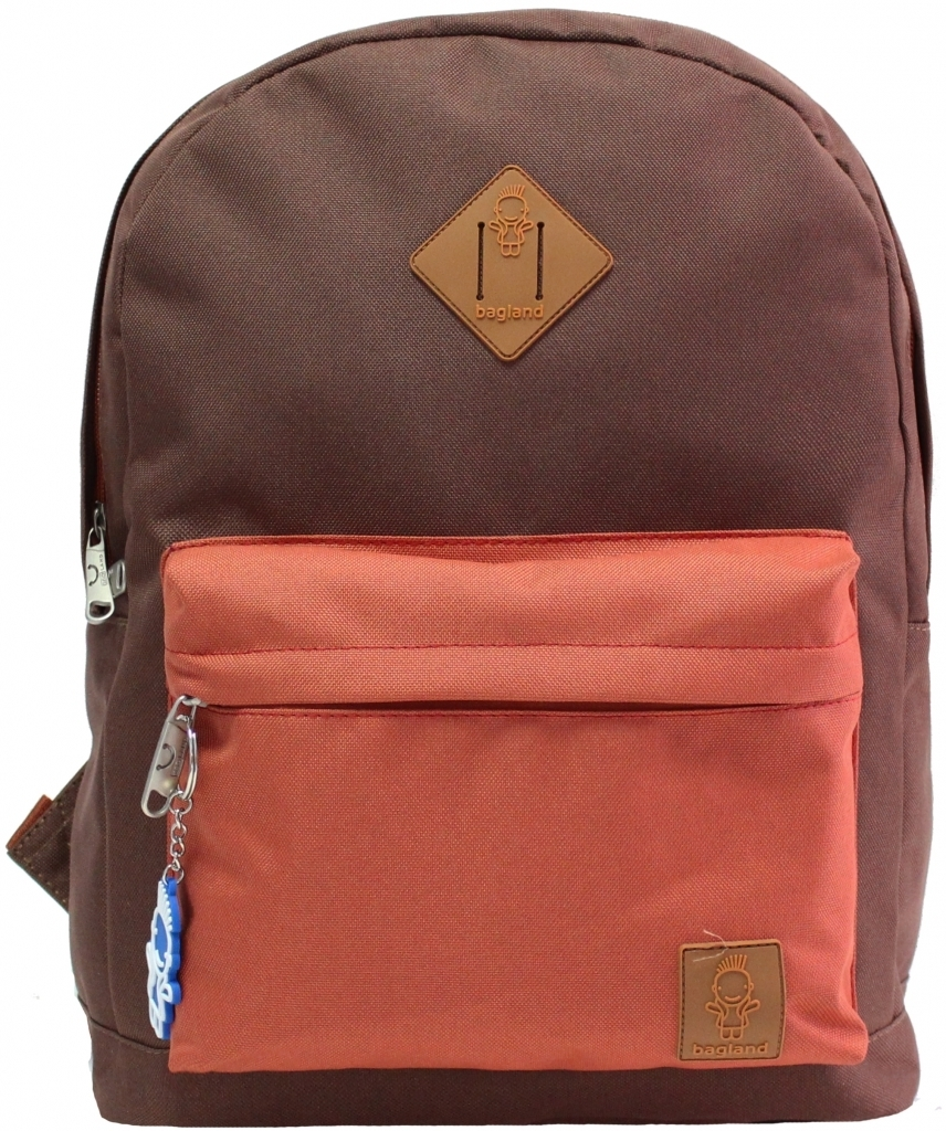 Городские рюкзаки Рюкзак Bagland Молодежный W/R 17 л. коричневий/кирпич (00533662) c17536e6ff76a79bf51b1df47f2d423c.JPG