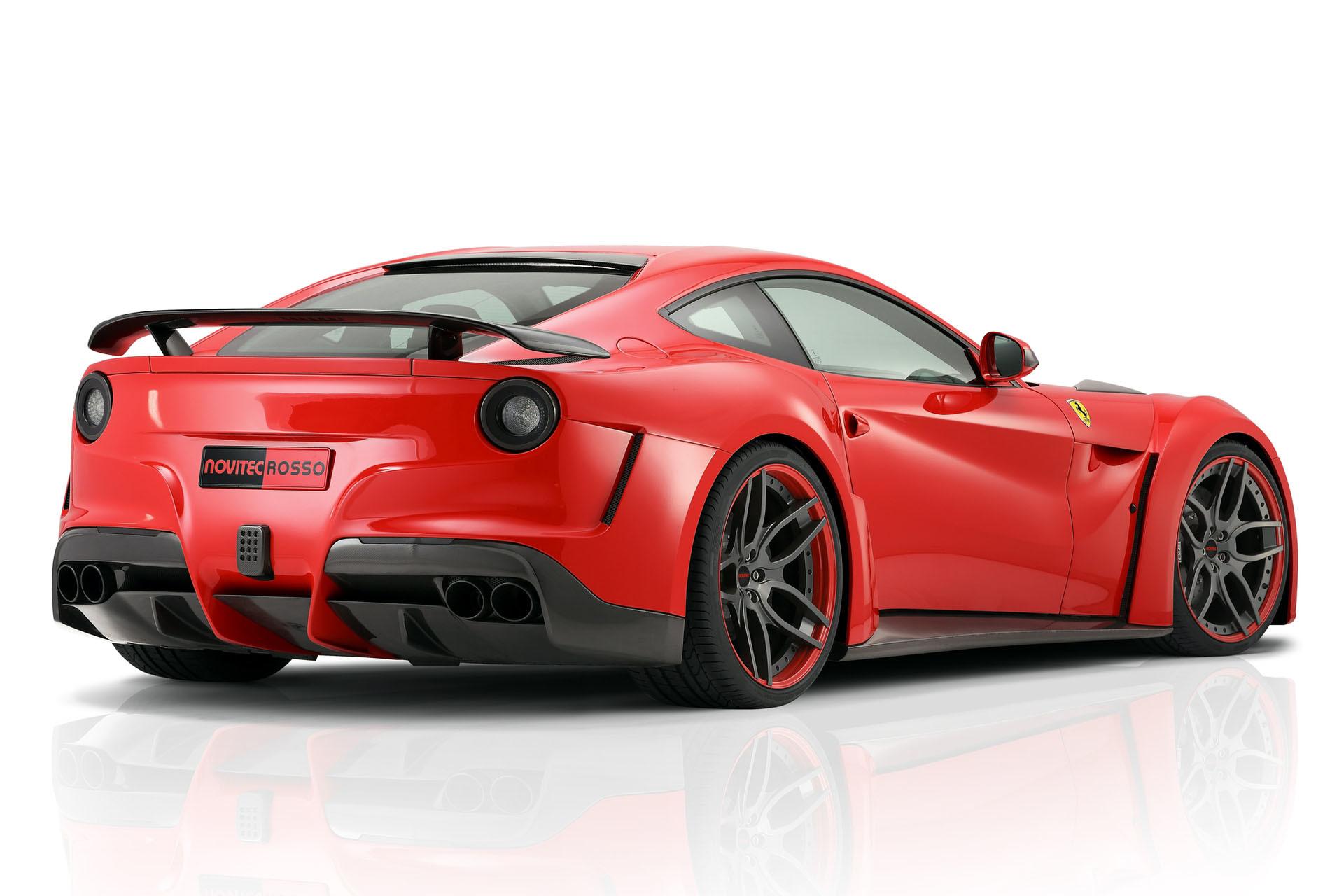 Карбоновые накладки на воздухозаборники переднего бампер Novitec Style для Ferrari F12 Вerlinetta