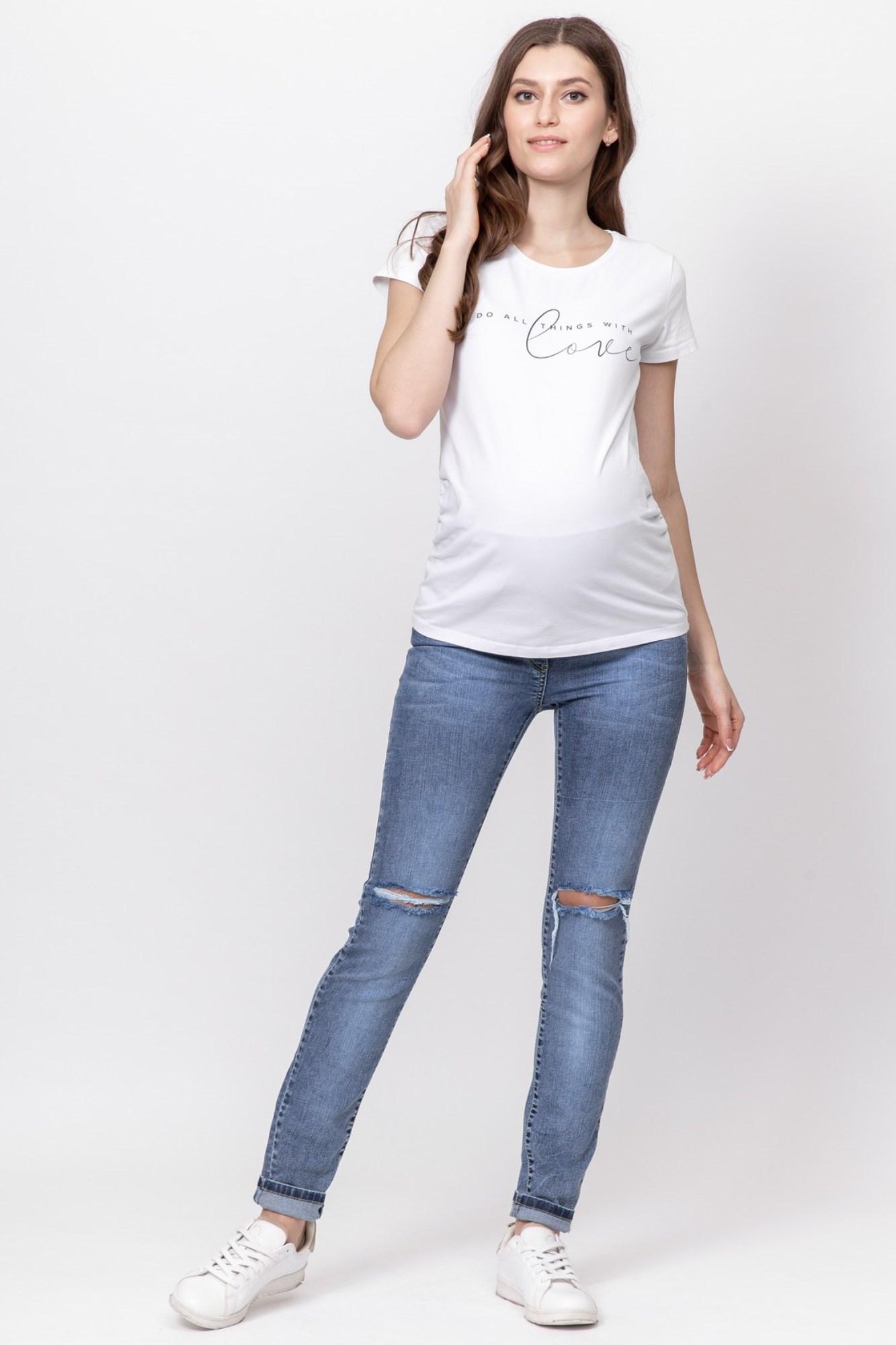 Джинсы для беременных (SLIM) 09333 синий