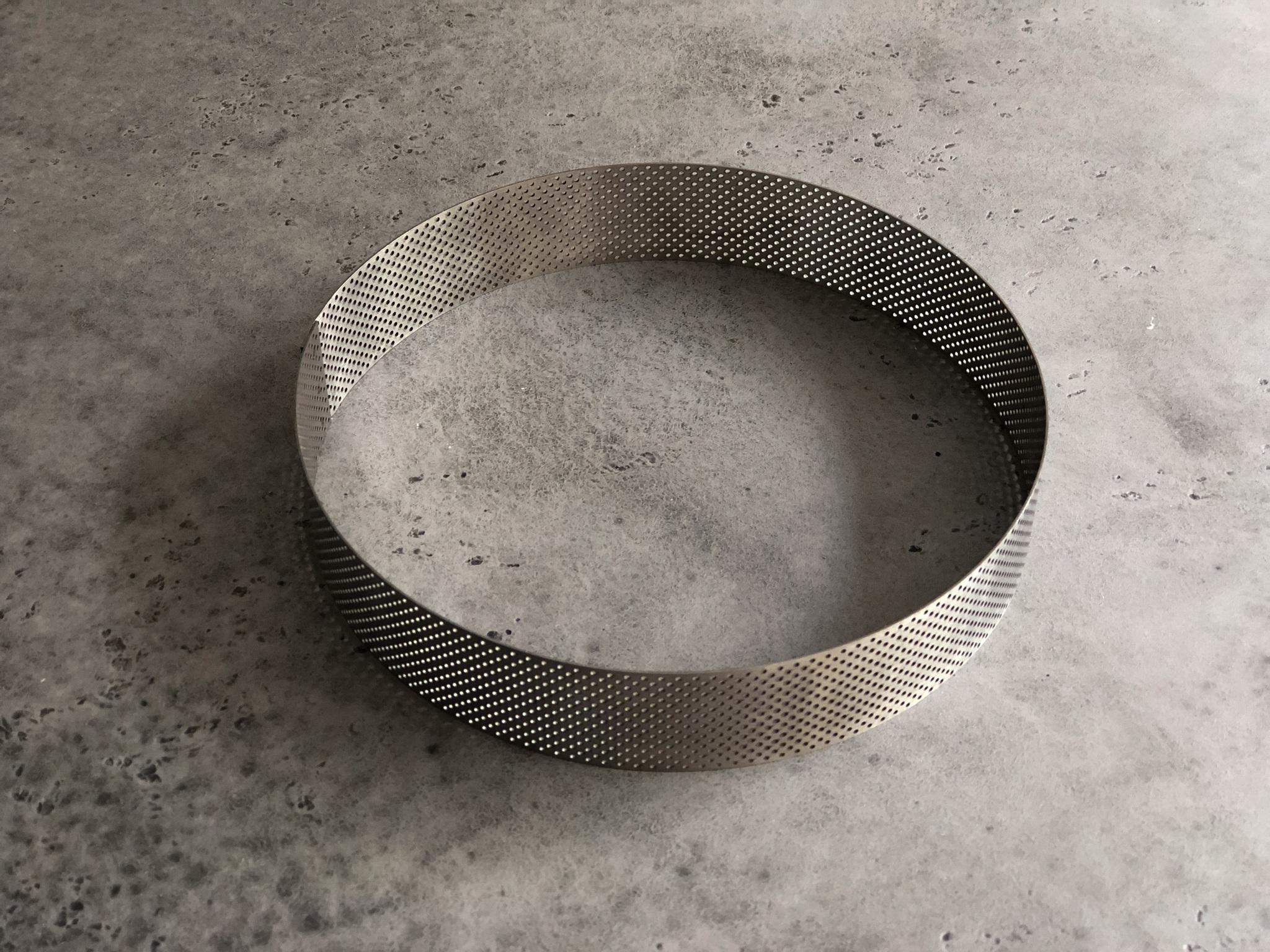 Перфорированная форма кольцо для тарта, 21х4 см