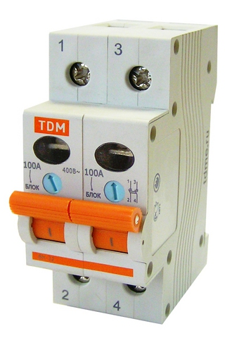 Выключатель нагрузки (мини-рубильник) ВН-32 2P 125A TDM