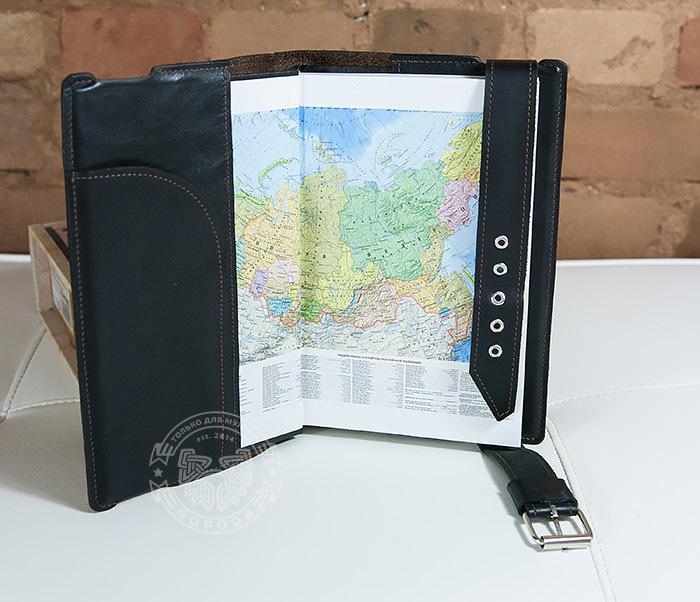 BC120-2 Мужской подарочный кожаный ежедневник ручной работы с гербом (А5) фото 06