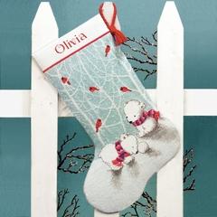 DIMENSIONS Белые мишки (Snow Bears Stocking)