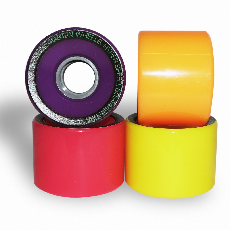 Колёса для скейтборда FASTEN Hyperspeed 83A (Multicolor)